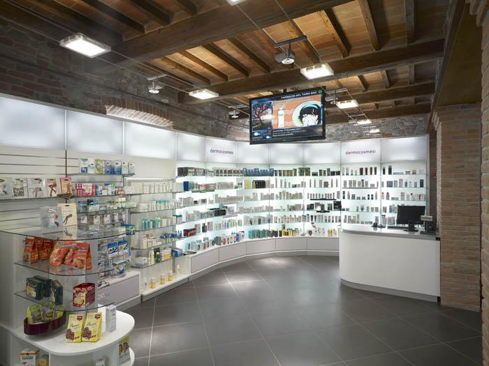 Dott.Munafo' - Progetto arredo farmacia moderna